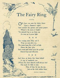 The Fairy Ring poem- must be why I wake up at 3AM for no reason...time to watch them fly