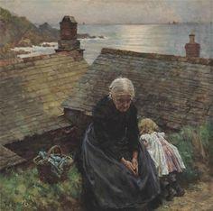 Walter Langley (British, 1852–1922) Meditation