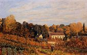 Kitchen Garden at Louveciennes - Alfred Sisley - www.alfredsisley.org