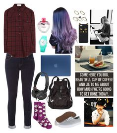 """Bored Of Reality"" by anna-fozo ❤ liked on Polyvore featuring Incase, Sony, White Stuff, HOT SOX, Yves Saint Laurent, Vans, Franklin, Victoria's Secret PINK, ASOS and Moschino"