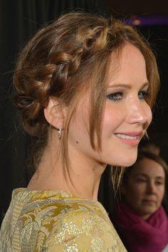 Top 20 Braid Hairstyles: Jennifer Lawrence
