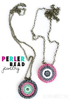I can't believe necklace is made out of perler beads!