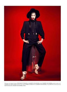 #Tian Yi is 'on fire' in #Vestal Mag (Issue 12). Ph Kevin #Sinclair