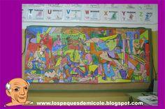 Picasso  http://lospequesdemicole.blogspot.com.es/2015/02/el-guernica-raumentado-con-aurasma.html