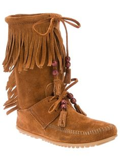 MINNETONKA Fringed Mocassin Boot