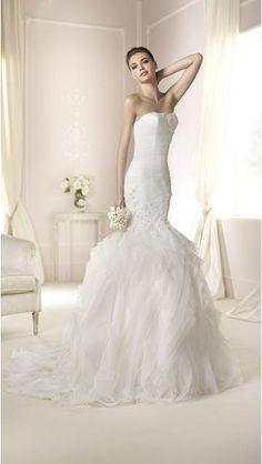 Kostel Okouzlijící & dramatický Spuštený Svatební šaty xxl