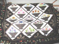 Queen Size Applique Quilt  Flower Power by KellettKreations, $595.00