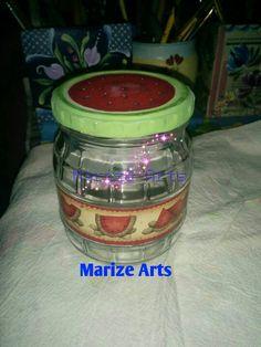 Marize Arts reciclando potes de conserva - Decoupage e pintura.