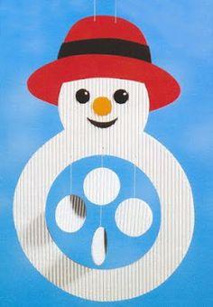 Actividades para Educación Infantil: 12 MANUALIDADES DE INVIERNO Manualidades Halloween, Easy Halloween Crafts, Christmas Crafts For Kids, Winter Christmas, Kids Christmas, Holiday Crafts, Winter Crafts For Kids, Winter Kids, Winter Art