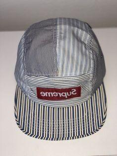 ed8be8e8 Supreme Hat Comme des Garçons Very Rare Box Logo Camp Cap SS12 100%  Authentic #