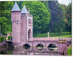 Jenny Rainbow Fine Art Photography Acrylic Print featuring the photograph Towers Of The Bridge. De Haar Castle by Jenny Rainbow Art Prints For Home, Fine Art Prints, Framed Prints, Fine Art Photography, Travel Photography, Amsterdam Holland, Thing 1, Iconic Movies, Tower Bridge