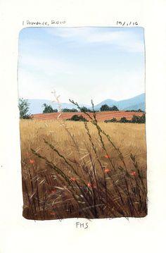 Illustration, design, animation and inspiration Art And Illustration, Art Sketches, Art Drawings, Whats Wallpaper, Arte Van Gogh, Art Mignon, Landscape Sketch, Guache, Art Graphique