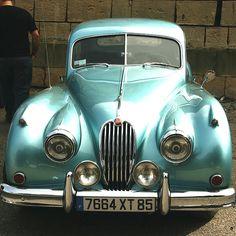 vintage aqua car