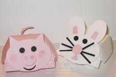 The Stampin' Bunny: Hamburger Box Pig and Bunny