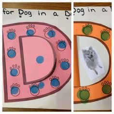 D for dots on a doghouse