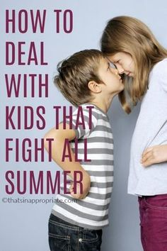 Sibling rivalry happens. Kids fight and argue, and parents are often at their wit's end trying to survive an entire summer with kids at home fighting non-stop. Here are some practical tips to surviving summer with kids. #siblings #summertime #summer #summeractivities #summersurvivaltips #tipsforsummer