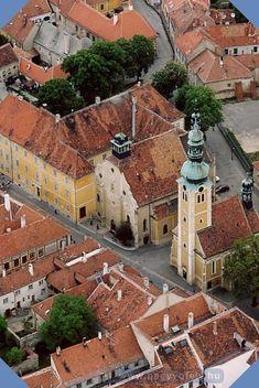 Kőszegi Római Katolikus templom légifotója