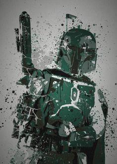 """""""BOUNTY HUNTER"""" SPLATTER EFFECT ARTWORK ... METAL POSTER"""