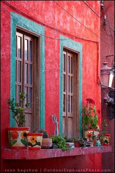 Stucco, Fuschia, and Turquoise Oh My!