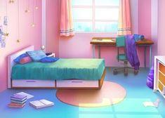 rosa och gron - Modern - Bedroom - by Episode Interactive Backgrounds, Episode Backgrounds, Anime Backgrounds Wallpapers, Anime Scenery Wallpaper, Scenery Background, Living Room Background, Cartoon Background, Bedroom Designs Images, Casa Anime