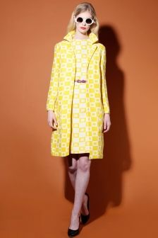 Shop Vintage   1960's Geometric Shift Dress + Coat Set   Thrifted & Modern