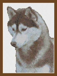 First Counted Cross Stitch Kit with 6 count fabric Dog by Florashell