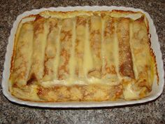 Recipe: Crepes with cheese in the oven Romanian Desserts, Romanian Food, Fruit Pancakes, Griddle Cakes, No Cook Desserts, Sweet And Salty, I Foods, Coco, Bakery