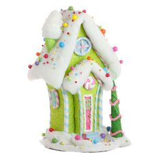 large green candy house, Christmas decoration