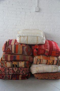 Moroccan Style Floor Pillows | Image via rentpatina.com