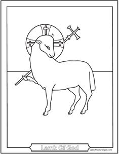 40 rosary coloring pages the mysteries of the rosary for Lamb of god coloring page