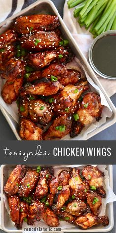 Teriyaki Chicken Wings - made with only 3 ingredients! - - Teriyaki Chicken Wings – made with only 3 ingredients! Chicken recipe Teriyaki Chicken Wings – made with only 3 ingredients! Teriyaki Chicken Wings, Chicken Wing Marinade, Sauce Teriyaki, Chicken Wing Sauces, Parmesan Chicken Wings, Cooking Chicken Wings, Crispy Chicken Wings, Crockpot Chicken Wings, Recipe For Teriyaki Chicken