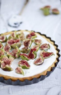 Cucina Piccina» Mascarpone-Quark-Kuchen mit frischen Feigen