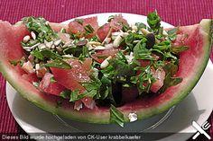 Melonen - Rucola - Salat mit Feta, ein sehr leckeres Rezept aus der Kategorie Früchte. Bewertungen: 7. Durchschnitt: Ø 4,0.