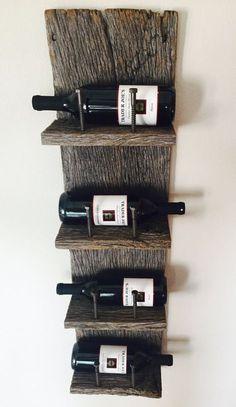 Reclaimed Wood Industrial Wine Rack Más Más
