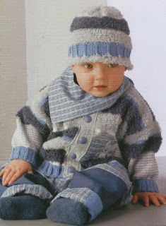 free knitting pattern: boys baby clothes models You are in the right place about knitting christmas Baby Boy Knitting Patterns Free, Baby Cardigan Knitting Pattern, Baby Patterns, Free Knitting, Knit Patterns, Knit Cardigan, Knit Baby Sweaters, Knitted Baby Clothes, Baby Knits