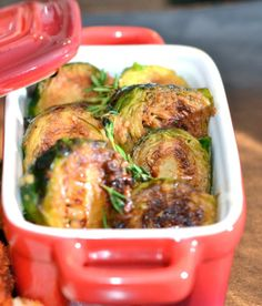 Garlic Roasted Brussel Sprouts - I LOVED these and that is saying a lot since I don't typically like brussels sprouts!  Granted, I was the only one in my family who gave them a thumbs up, but they were even good warmed up for lunch.  A keeper!