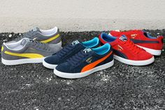Puma Suede, Puma Sneakers Suede, Mens Puma Shoes, Pumas Shoes, Men's Shoes, Cool Trainers, Kinds Of Shoes, Sports Shoes, Shoe Game