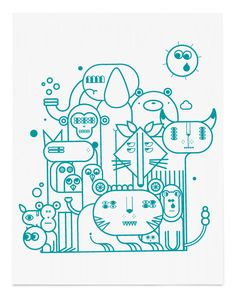 LOVERS ZOO by Jonathan Calugi, via Behance, happy lovers town