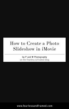 photo slideshow in imovie