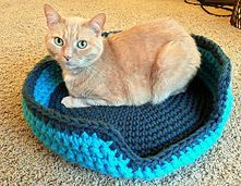 Ravelry: Sturdy & Comfy Cat Bed pattern by Lauren Elizabeth