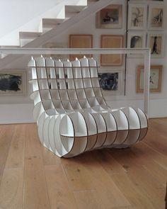Chair of alveolar cardboard. Alveolar Cardboard Armchair, made to order