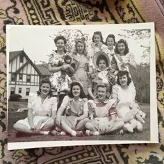 ~vintage photo~  Ah this is a great photo! Girls with dolls! Its an original photo that measures 8x10 on heavy stock paper. It was found at
