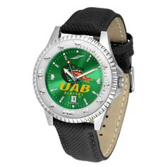 """Alabama Birmingham Blazers NCAA Anochrome """"Competitor"""" Mens Watch (Poly/Leather Band) by SunTime. $84.59. Rotating Bezel. Color Coordinated. Calendar Date Function. Showcase The Hottest Design In Watches Today! A Functional Rotating Bezel Is Color Coordinated To Highlight Your Favorite Team Logo. A Durable, Long Lasting Combination Nylon/Leather Strap, Together With A Calendar Date, Round Out This Best Selling Timepiece. The Anochrome dial option increases the visual im..."""