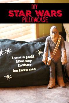 Star Wars Craft: Personalized Pillowcase @silhouettepins StarWars Silhouetteidea