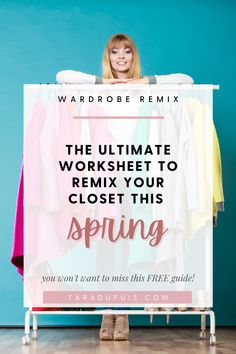 Use this worksheet to be inspired and to have some fun in your closet with my easy tips to remix items that you already own into 'new' looks! // Fashion Stylist // Fashion Blog // Fashion Worksheet // Tara Dupuis #fashionstylist #fashionblog #fashionworksheet