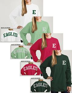 Eastern Michigan University Women's Football Long Sleeve T-Shirt | Eastern Michigan University MINT OR WHITE ONE