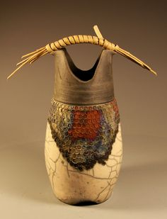 Raku container    from tea parties to tea ceremonies. . .i'm into it