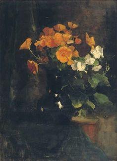 Yellow and white flowers by Floris Arntzenius (1864-1925)