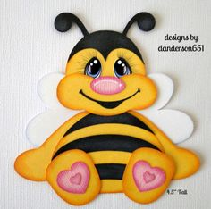 Abeja-Adorno-Paper-Piecing-prefabricados-4-frontera-album-danderson651 Fall Classroom Decorations, Art For Kids, Crafts For Kids, Cute Bee, Art Corner, Paper Craft Supplies, Bees Knees, Foam Crafts, Paper Piecing