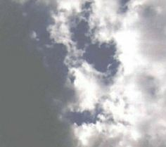 Faces in the Clouds - Skull